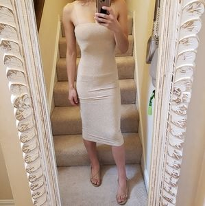 NWT Meshki Gold & Glimmer Dress